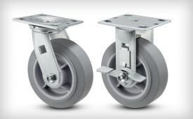 E-Line 2 Inch Wide TPR Flat Wheel Casters