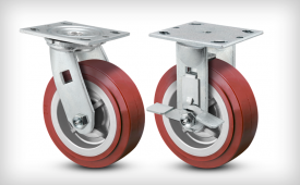 E-Line 2 Inch Wide Thermo-Urethane Wheel Casters