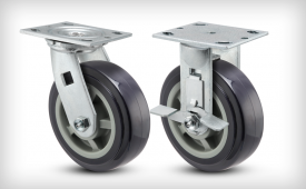 E-Line 2 Inch Wide Polykat Thermo-Urethane Wheel Casters