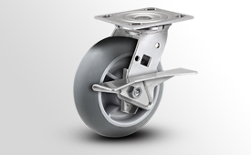 E-Line Stainless 2 Inch Wide TPR Donut Wheel Casters