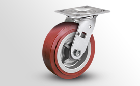 E-Line Stainless 2 Inch Wide Thermo-Urethane Wheel Casters