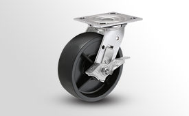 E-Line Stainless 2 Inch Wide Polypropylene HD Wheel Casters
