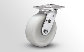 E-Line Stainless 2 Inch Wide White Nylon Wheel Casters