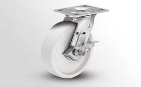 E-Line Stainless 2 Inch Wide RETORT Poly Wheel Casters