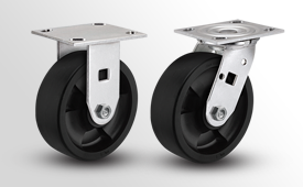 E-Line Stainless 2 Inch Wide High-Temp Nylon Wheel Casters