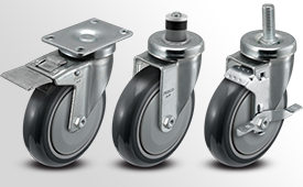A-Line 1 1/4 Inch Wide Thermo Urethane Wheel Casters