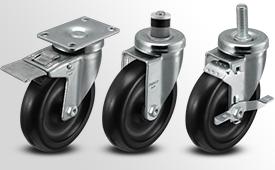 A-Line 1 1/4 Inch Wide Polyolefin Wheel Casters